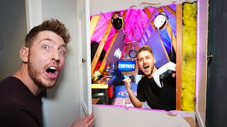 WE BUILT A SECRET ENTRANCE INTO OUR GAMING ATTIC!