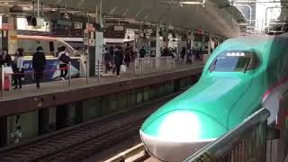 Japan new bullet train Arrival at Tokyo japan station