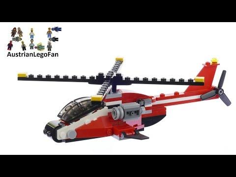 Vidéo LEGO Creator 31057 : L'hélicoptère rouge