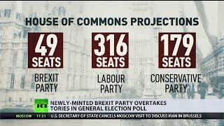 May 13, 2019 New English Brexit Party overtakes Tories in Polls