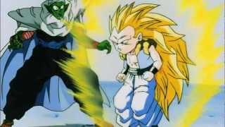 DBZ - Gotenks turns Super Saiyan 3 for the First Time (HD)