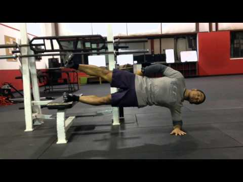 Elevated 1-Leg Side Bridge with Hip Abduction