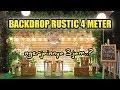DIY backdrop photobooth wedding rustic 4meter | di malang