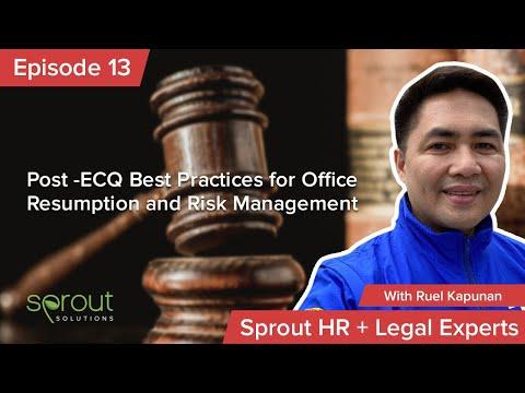 Episode 13: Post -ECQ Best Practices for Office Resumption and Risk Management
