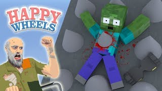 Monster School : HAPPY WHEELS CHALLENGE - Minecraft Animation