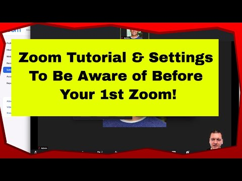 Zoom Tutorial For Beginners 2020 - Zoom Settings You Need To Know About | Mike Hobbs