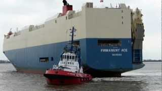 preview picture of video 'Car Carrier FIRMAMENT ACE in Bremerhaven'