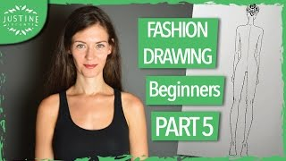 How to draw fashion figures: back view TUTORIAL | Fashion drawing for beginners #5 | Justine Leconte