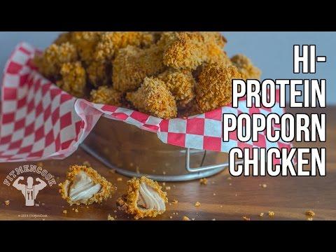 """Healthier """"KFC-Style"""" Hi-Protein Popcorn Chicken / Popcorn (Palomitas) de Pollo con Proteína"""