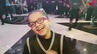 9-year-old pumps up the crowd at Spurs game