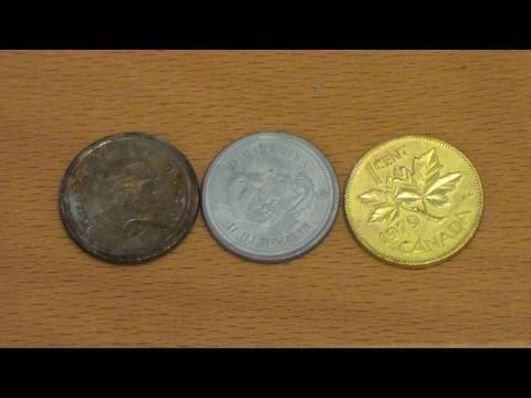 Dorar monedas de cobre