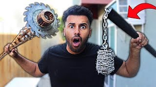 We Built DIY ZOMBIE APOCALYPSE SURVIVAL WEAPONS!! *EXTREME BAT-TLE CHALLENGE*