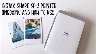 Instax share sp-2 printer unboxing & how to use