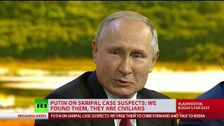 Putin on Skripal case suspects: We found them, they are civilians
