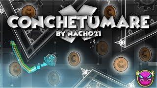 "18 COINS?! - ""Conchetumare X"" [DEMON] by Nacho21! [GD 2.11] | GuitarHeroStyles"