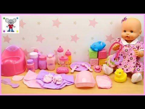 Neceser con 30 ACCESORIOS para la Muñeca Bebé | Qué llevar en el Bolso Cambiador de la BEBÉ NENUCO