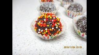 מתכון לכדורי שוקולד עם ביסקוויטים