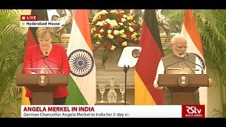 Joint press statement by PM Narendra Modi and German Chancellor Angela Merkel