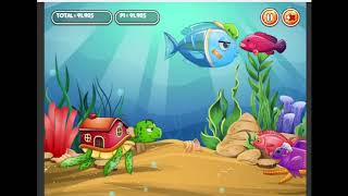 REACHING A SCORE OF 99999+ ON FISH EAT FISH AS A BARRELEYE FISH! Epic Flash gameplay 01