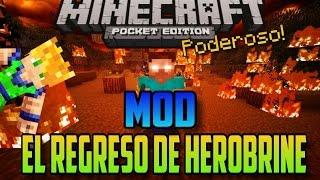 Minecraft Pocket Edition - El Regreso de Herobrine - Mod
