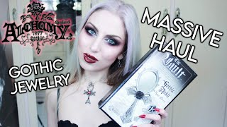 Huge Alchemy Gothic Haul   Unboxing And Try On   Goth Jewelry + Alternative Lifestyle   Vesmedinia