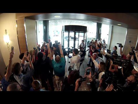 Nick Saban Arrival At SEC Media Days
