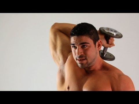 Seated Dumbbell Overhead Triceps Extension