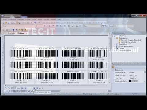 Barcode Etiketten mit Excel-Daten drucken # TFORMer Designer
