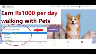 Earn Money Walking With Dogs (Dog Boarding Or Pet Walker) Part Time Job (Worldwide)