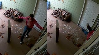 Mom and Baby Hide in Bathroom From Deranged Intruder