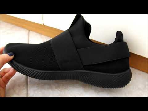 Scarpe da corsa Sneakers Trainer da uomo nere basse Gracosy