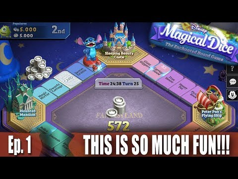 THIS IS SO MUCH FUN!!! - Disney's Magical Dice: The Enchanted Board Game - Ep. 1
