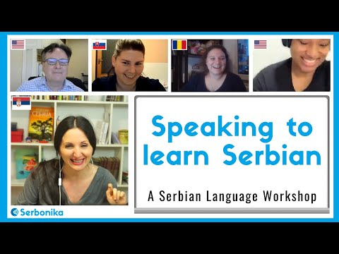 Speak to Learn Serbian - a Serbian Language Workshop