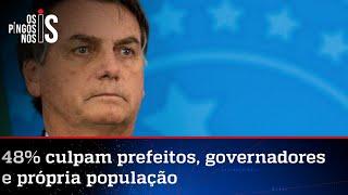 Maioria da população isenta Bolsonaro de culpa na crise da Covid