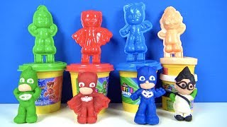 Pijamaskeliler oyun hamuru ve 3D oyun hamuru kalıbı ile Baykuş kız Kertenkele Kedi Çocuk yapıyoruz