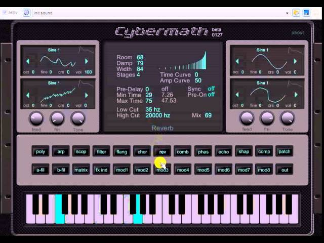 Freeware VST VSTi Plugin Synth Vol.2 2015 Cybermath beta Good for Dance Bass Techno