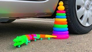 Crushing Crunchy & Soft Things by Car! - EXPERIMENT: CROCODILE VS CAR