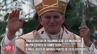 Francisco tras las huellas de Juan Pablo II en Tailandia