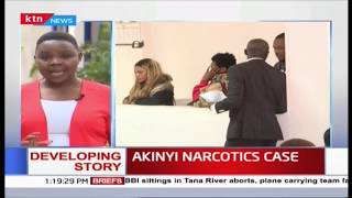 Akinyi, 2 others facing narcotics trafficking charges to remain in custody for 3 more days