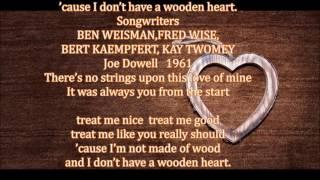 """【German folk song 】""""Wooden Heart (Muss I Denn)""""  ~~ Joe Dowell"""