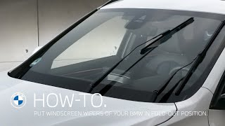 How To Put The Windscreen Wipers Of Your BMW In Fold-out Position  – BMW How-To