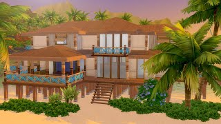 Let's Build a Tropical Beach House in The Sims 4 (Part 2)