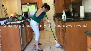 Super Speed Clean With Me-New Mop-Review