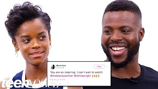 Black Panther Cast Competes in a Compliment Battle | Teen Vogue