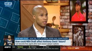 ESPN GET UP | Richard Jefferson DEBATE: How could NBA Draft affect Anthony Davis' future?