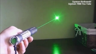 Focusable green laser pointer 50mW 3,7V 18650