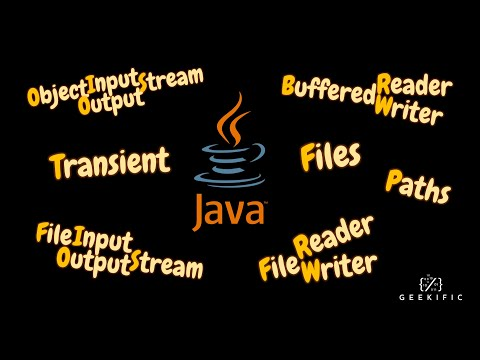 Reading from and Writing to a file in Java | Transient Java Keyword | Geekific