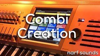 Korg Kronos Tutorial: Combi Creation Layers, Split and Velocity Split