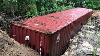 Underground Storm Tornado Shelter How To Bury Shipping Container Part 6 Reinforce Top And Sides