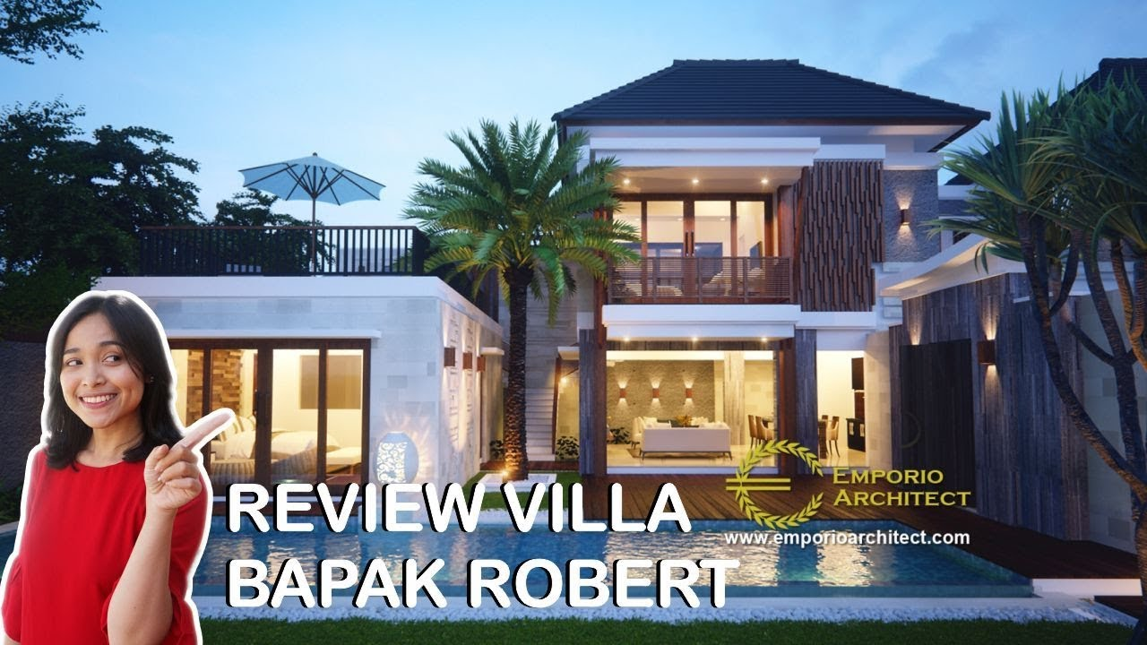 Video Hasil Konstruksi Desain Villa Style Villa Bali 2 Lantai Bapak Robert di Seminyak, Bali